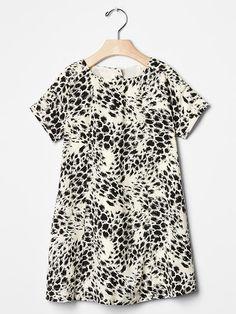 Cheetah panel dress