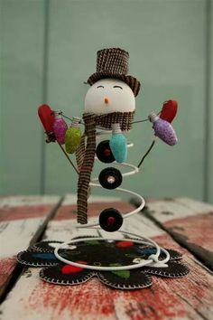Snowman if only I had a bed spring