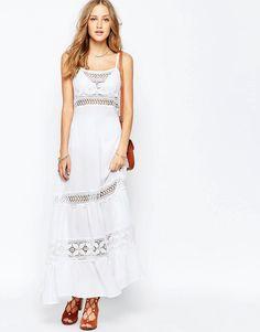 Gypsy+05+Crochet+Spagetti+Strap+Maxi+Dress