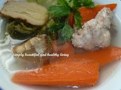 simply beautiful and healthy living: Refreshing Chinese Mustard (Gai Choy) Chicken Soup
