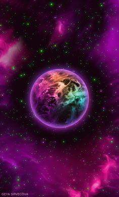 """geyashvecova: """" Art G.Shvecova (Design graphics – Rainbow Liquid geyashvecova: """"Art G. Planets Wallpaper, Wallpaper Space, Cute Wallpaper Backgrounds, Pretty Wallpapers, Galaxy Wallpaper, Beautiful Nature Wallpaper, Beautiful Moon, Galaxy Painting, Galaxy Art"""
