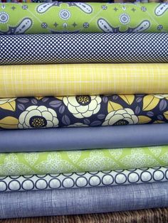 Granite falls Custom half yard bundle 8 total by poppyseedfabrics, $36.45 I love this color combo...  Just not sure what Bobby would think of it..