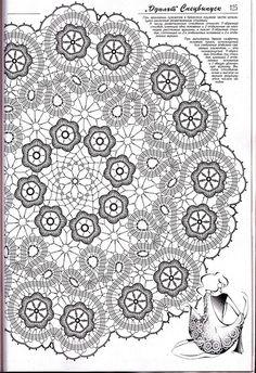 - 'Floral Festival XL' Art Rubber Stamp x Filet Crochet, Thread Crochet, Irish Crochet, Crochet Motif, Crochet Doilies, Crochet Stitches, Bruges Lace, Crochet Table Topper, Crochet Tablecloth