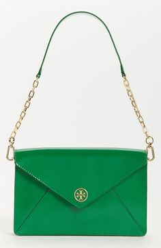 Tory Burch 'Robinson' Patent Saffiano Leather Envelope Clutch | Nordstrom
