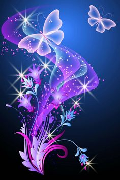 Illustration of Glowing background with smoke, flowers and butterfly vector art, clipart and stock vectors. Smoke Wallpaper, Cute Wallpaper Backgrounds, Pretty Wallpapers, Galaxy Wallpaper, Live Wallpapers, Flower Wallpaper, Purple Butterfly Wallpaper, Butterfly Pictures, Butterfly Art