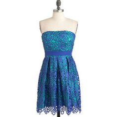 Keep it Reef Dress in Cerulean