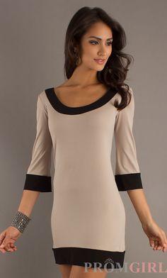 $138 Short 3/4 Length Sleeve Dress by A.B.S. AB-358D77A