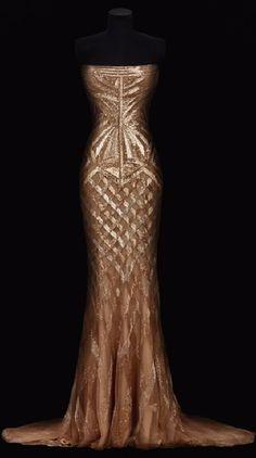 Roberto Cavalli 2014 gold gown