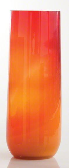 Global Views Ombre Taper Vase Red & Orange Large