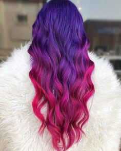 Pink and Purple Hair 15 Ideen für rosa und lila Haarfarben im Trend How to Choose the Perfect Hair S Hair Dye Colors, Ombre Hair Color, Cool Hair Color, Edgy Hair Colors, Galaxy Hair Color, Magenta Hair Colors, Bright Pink Hair, Pink Purple Hair, Purple Hair Styles