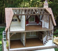 Spinner's End Miniature Doll House - Etsy One of a Kind by artist Christina Bogie Bougas - pic 4 of 5 Miniature Rooms, Miniature Houses, Miniature Furniture, Doll Furniture, Dollhouse Furniture, Plywood Furniture, Modern Furniture, Furniture Design, Mini Doll House