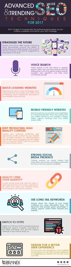 #SEO in 2017: 10 Trends & Techniques to Consider for Higher Rankings #Infographic #Marketing #Business