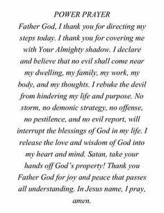Power of prayer, it's more powerful than you know. Prayer Scriptures, Bible Prayers, Faith Prayer, God Prayer, Prayer Quotes, Power Of Prayer, Spiritual Quotes, Bible Verses, Catholic Prayers Daily