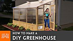 We helped Josh's wife make a DIY Greenhouse with help from Lowe's. It was a fun & challenging build, but Lowe's is the perfect partner to help you fin Diy Greenhouse Plans, Lean To Greenhouse, Backyard Greenhouse, Cheap Greenhouse, Greenhouse Wedding, Outdoor Projects, Garden Projects, Fall Projects, Growing Plants