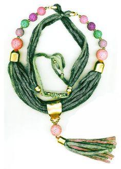 PETROL WOOL NECKLACE WITH PURPLE LAVA Handmade Bracelets, Lava, Beaded Necklace, Jewellery, Wool, Purple, Earrings, Beaded Collar, Ear Rings