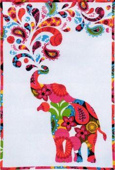 Paisley Splash Quilt Kit #shopsmall elephant quilt