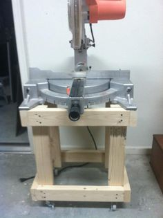 Built rolling carts for my miter saw and another for the bandsaw.