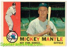 1960 Topps #350 Mickey Mantle $600