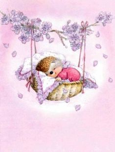 30 Ideas baby girl illustration night for 2019 Hedgehog Art, Cute Hedgehog, Hedgehog Illustration, Cute Illustration, Animal Drawings, Cute Drawings, Cute Images, Cute Pictures, Pretty Phone Backgrounds