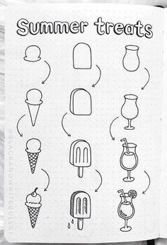 Bullet Journal Banner, Bullet Journal Notebook, Bullet Journal Ideas Pages, Bullet Journal Inspiration, Journal Prompts, Bullet Journal Front Page, Doodle Art For Beginners, Easy Doodle Art, Easy Art