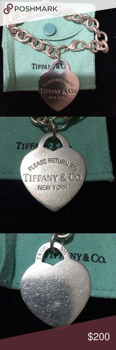 Large 1 1-2 inch Return to Tiffany Bracelet Large rare Return to Tiffany Bracelet. Authentic - probably have the receipt from purchase 14 years ago. Hope you enjoy! Tiffany & Co. Jewelry Bracelets