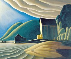 Lawren Harris 'Ice House, Coldwell, Lake Superior' Canadian Group of Seven Canada Landscape, Winter Landscape, Landscape Art, Landscape Paintings, Abstract Paintings, Painting Art, Watercolor Paintings, Tom Thomson, Emily Carr