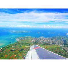 【yuummygram】さんのInstagramをピンしています。 《. . See you next time ▷▷▷✈︎✈︎✈︎ 惜しくも最終日がいちばん晴れた またね宮古島 . . #沖縄#宮古島#宮古ブルー#島旅#離島 #飛行機#海#空#雲#風景#自然 . . #okinawa #miyakojima #airplane #trip #genic_mag #genic_beach #genic_travel  #instapic #instagramjapan #icu_japan #tabilabo  #beautiful #sky #sunny #ocean #landscape #view》