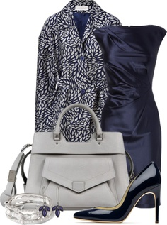 """""""Business in Blue"""" by happygirljlc ❤ liked on Polyvore"""