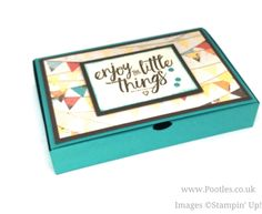 Stampin' Up! Demonstrator Pootles - No Glue Foldable Box Using Cupcakes & Carousels. Click through for full details and video tutorial