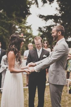 Bohemian Portland Park Wedding. Wedding at the park CUTE @Nicole Casterline this might be an idea & not have to rent tables ?