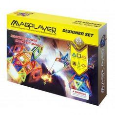 Set de constructie magnetic MAGPLAYER - 83 piese Magnets, Design, Playmobil