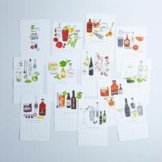 2015 Cocktail Recipe Calendar - by designer/illustrator Heidi Schweigert