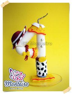 Vela Em Biscuit Tema Toy Story