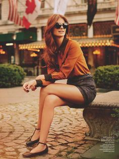 High Waisted Shorts | Tucked In Shirt | Black Cuffs | Shoes