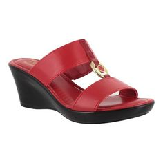 A timeless classic crafted in Italy, these Calla wedge sandals from Tuscany by Easy Street are sure to be eye-catching. Wedge Sandals, Shoes Sandals, Women Sandals, Shoes Women, Ladies Shoes, Leather Sandals, Clearance Shoes, Golf Shoes, Vestidos