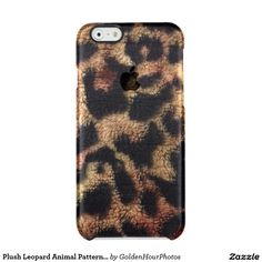 Plush Leopard Animal Pattern Iphone6/6s Case Uncommon  Clearly™ Deflector iPhone 6 Case $42.20