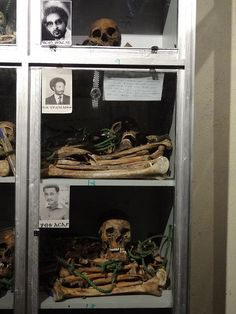 Remains of Victims Murdered by Dergue Regime - Red Terror Martyrs' Memorial Museum - Addis Ababa - Ethiopia