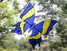 Stained Glass Butterfly Suncatcher Panel by BerlinGlass