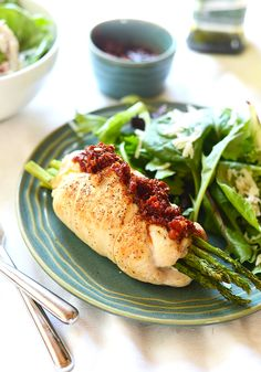 Prosciutto Asparagus Stuffed Chicken Breast + Healthy Summer Grilling Recipes - Fit Foodie Finds