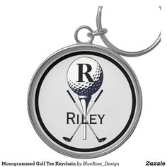Monogrammed Golf Tee Keychain Golf Accessories, Personal Shopping, Custom Buttons, Keep It Cleaner, Cool Designs, Monogram, Man Shop, Tees, Minimal