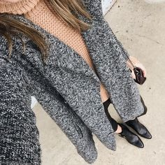 Marled coat on repeat lately