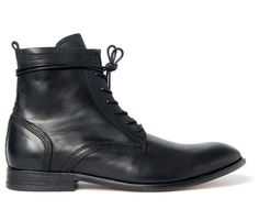 Men's Swathmore (Coal) Leather Ankle Boots | H by Hudson