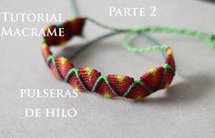 pulseras de hilo anchas faciles de hacer parte 2