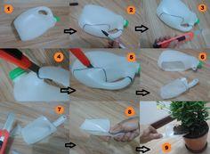 Manualidad de la semana: Cómo convertir un envase plastico en una pequeña pala de jardineria !    1. Seleccione la botella plastica y limpiela  2. Use un marcador para delinear la forma  3. Consiga un bisturi  4. y 5. Corte por las partes delineadas  6. Separe del envase original  7. Pula los bordes  8. y 9. Compruebe y use