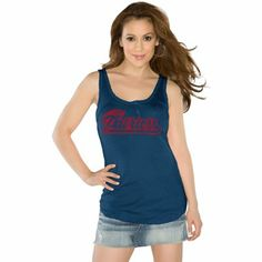 Touch by Alyssa Milano New England Patriots Ladies Curve Ball Tank Top - Navy Blue