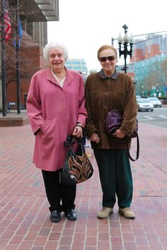 """After the photo, I asked if they had any grandchildren. The one in the pink said: """"I'm still an unclaimed treasure."""""""