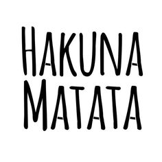 Hakuna Matata! I made this wooden sign and hung it in the tree house!
