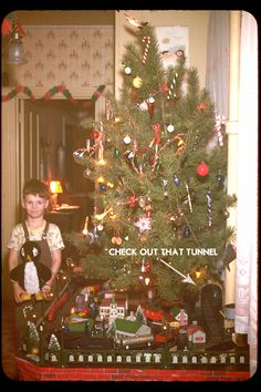 My hubby liked having a train going around our Christmas tree when the boys were small. Pin leads to a nice article and pictures about Lionel Trains at Christmas.