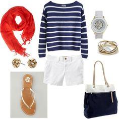 summer style #nautical #summer #fashion