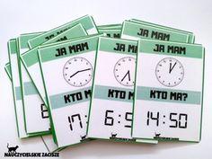 JA MAM, KTO MA? gra dydaktyczna ZEGARY 7376156109 - Allegro.pl Education, Onderwijs, Learning